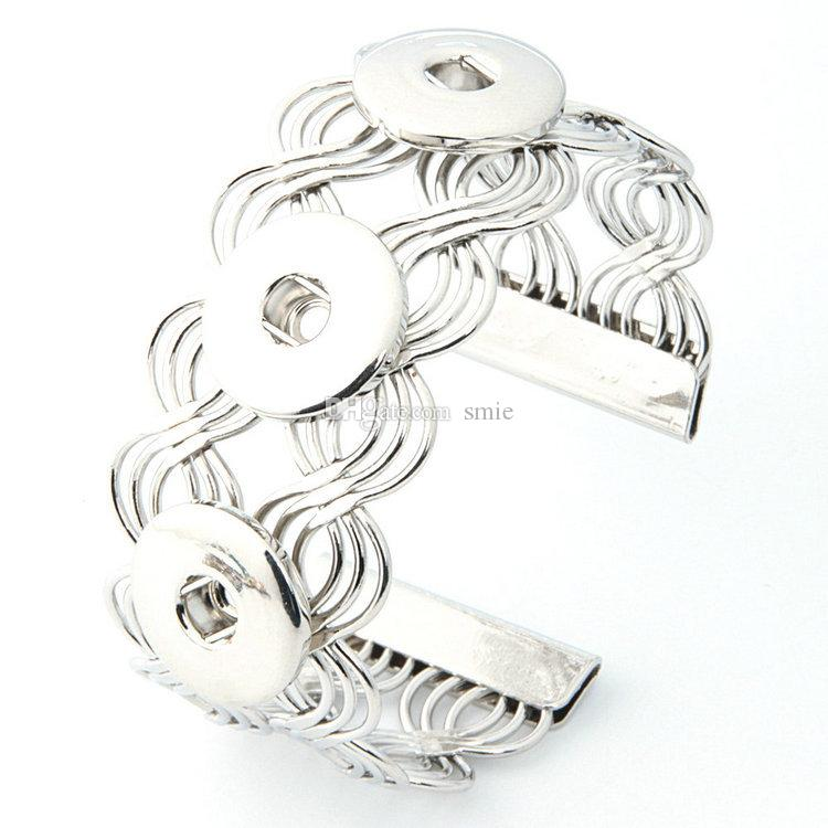 Noosa 금속 스냅 버튼 매력 DIY 팔찌 Bangle 교환 할 수있는 보석 진저 스냅 보석 쥬얼리 스냅 단추 팔찌 모듬 된 모델