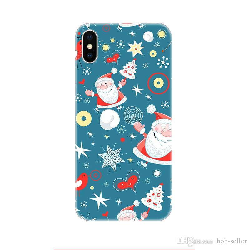 For apple iphone x case for iphone 8 7 plus iphone 6S TPU box Creative Christmas elk Merry Christmas gift cell phone cases