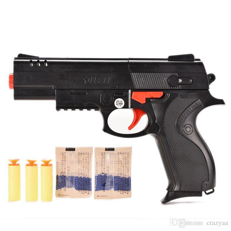 Cheap Pump Pistol Nerf Airsoft.gun Airgun Soft Bullet Gun Paintball Pistol  Toy CS Game Shooting Water Crystal Gun