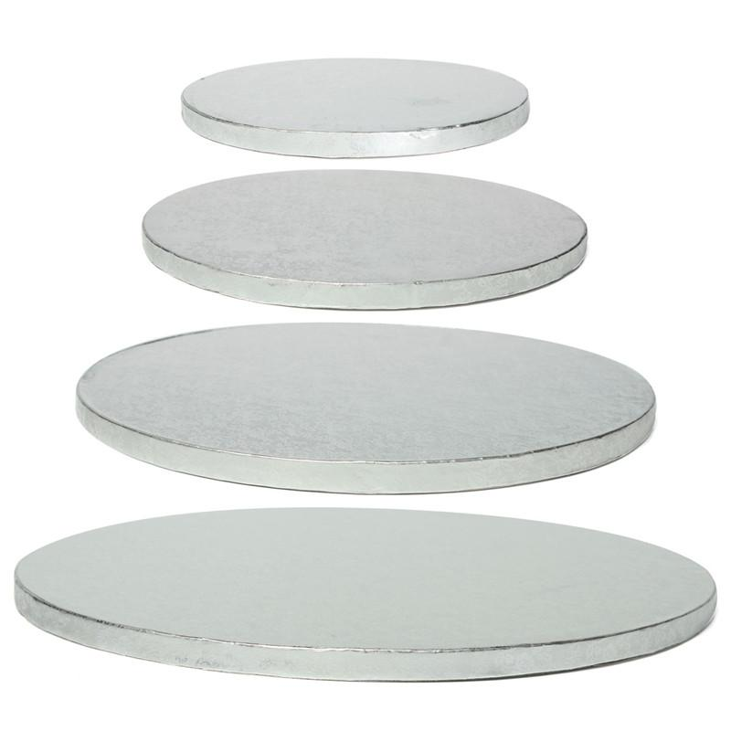 New Arrival High Quality Cake Board Drum Corrugated Round Silver - Wedding Cake Boards
