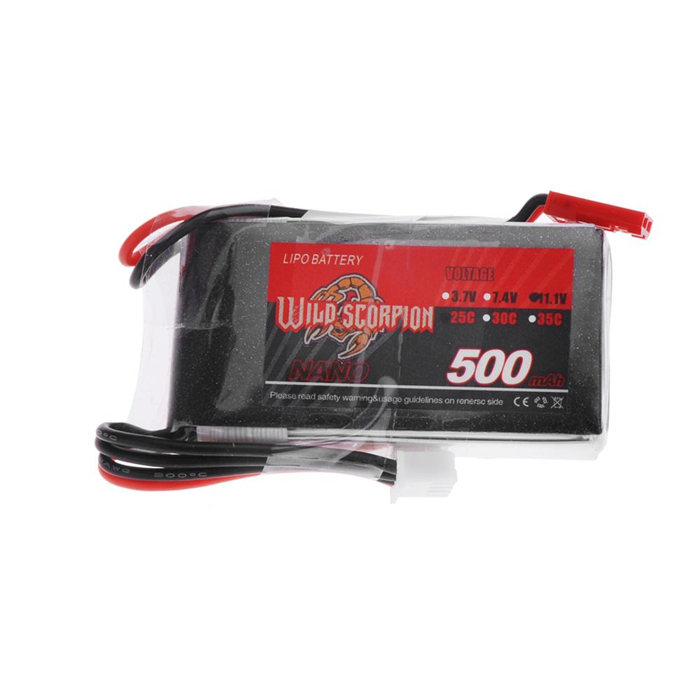 Wild Scorpion 500mAh 25C MAX 35C 3S JST Plug Lipo Battery 11.1V for RC Car Airplane Blade CX Helicopter Part order<$18no track