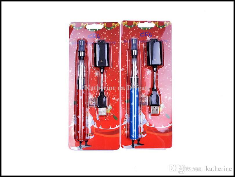 Christmas Gift CE4 Blister Kits 650mah 900mah 1100mah Christmas Battery in a Christmas Blister Retail Packaging CE4 Electronic Cigarette Kit