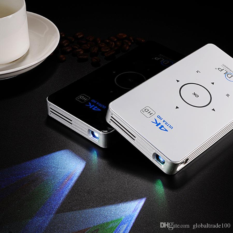C6 Mini Projector Android Amlogic S905 Quad Core 2GB 16GB ROM 5G Wifi Smart DLP Proyector Full HD Bluetooth MAX Portable TV BOX