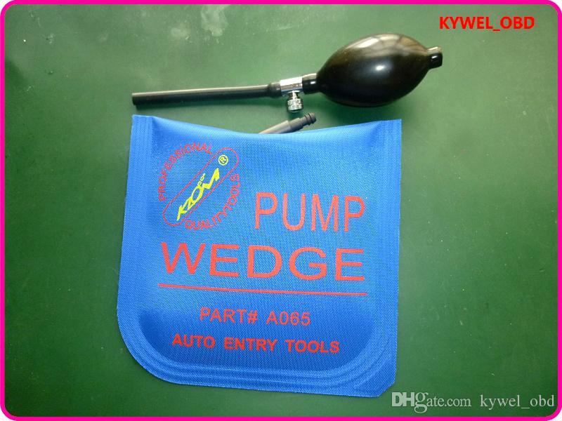 KLOM Küçük / Orta / Büyük / U boyutu hava kama Hava pompası kama Şişme Kilidini Kapı araba 4 adet / grup ücretsiz kargo Mavi Renk