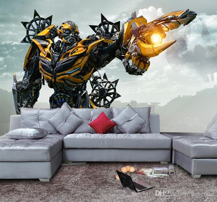 Bumblebee Wallpaper 3d Transformers Photo Wallpaper Custom Waterproof Wall  Mural Art Painting Boy Room Decor Bedroom Living Room Superhero Images Of  ...