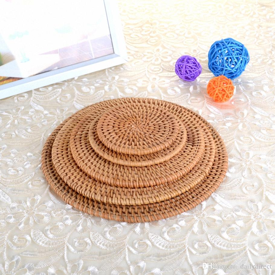 2018 Kinds Round Bamboo Coaster Tea Rattan Mat Insulation Natural Table Kitchen Carft Drop From Dailydirect 4 63 Dhgate Com