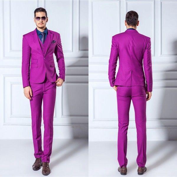 Jackets+Pants+Vest+Bow Tie 2015 Men Suits Slim Blazers Tuxedo Groom ...
