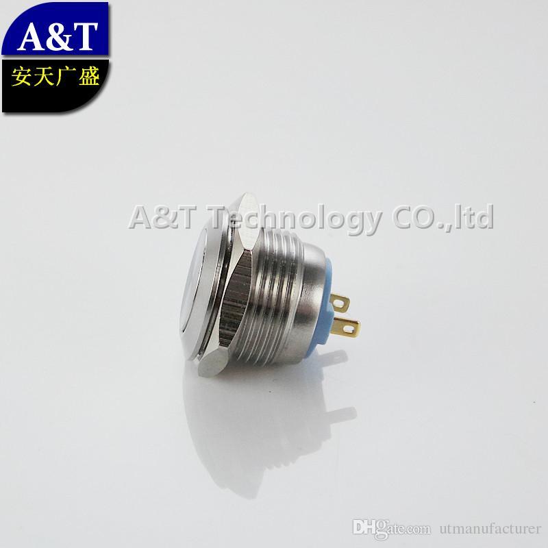 온 / 오프 금속 방수 IP67 파손 방지 푸시 버튼 공장 공급 소형 CMP 스테인리스 16mm의 12V는 순간, TUV CE,도 3a / 250V 전환