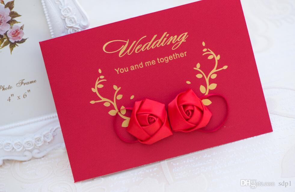 3d rose new arrival invitation letter red fancy wedding for 3d rose wedding invitations