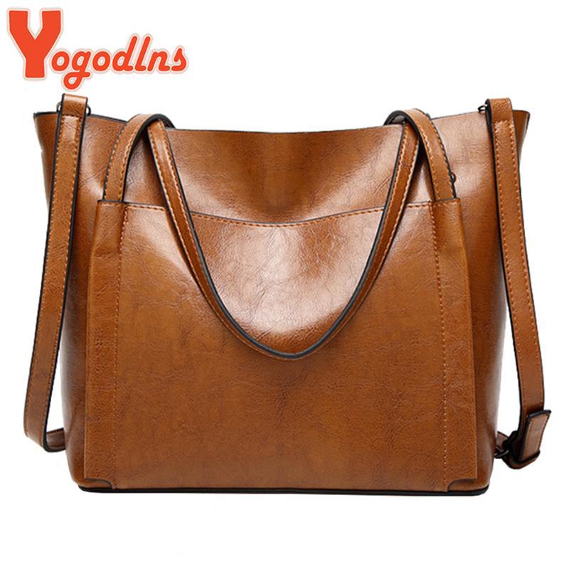 f4709125da0a3 Vintage Women Leather Handbags Fashion Messenger Bags Female Leather ...