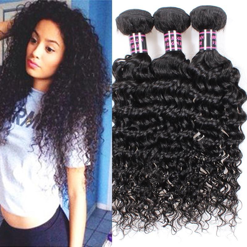 Brazilian Deep Wave Virgin Hairbest Hair Products Human Hair Weaves
