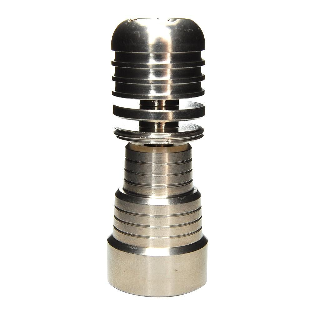 2015 New 5 hole 4 in 1 Domeless Titanium Nails 14mm & 19mmFemale and Male Joint for Glass Pipe Bong