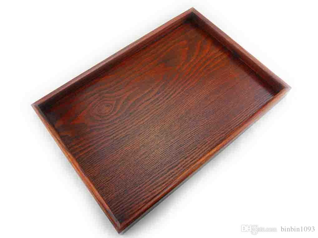 40 Wooden Serving Tray Decorative Rectangular Ottoman Tray Serve Simple Decorative Wood Serving Trays