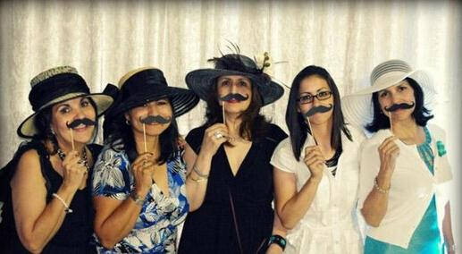 New Arrive DIY Photo Booth Props Mustache Lip Hat Antler Gift Stick Christmas Party