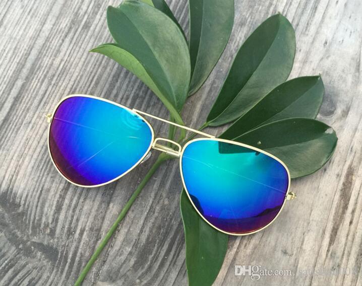 Реальная картина 2019 Аэронавт солнцезащитные очки Мужчины Женщины солнцезащитные очки зеркальные линзы Бен солнцезащитные очки с футлярами