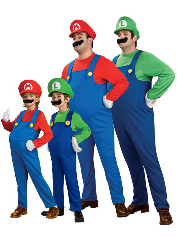 Men Women Funy Cosplay Costume Super Mario Luigi Brothers Plumber Fancy Dress Up Party Costume Cute Kids Costume Jj0089 Nurse Halloween Costume Buy Costume ...  sc 1 st  DHgate.com & Men Women Funy Cosplay Costume Super Mario Luigi Brothers Plumber ...
