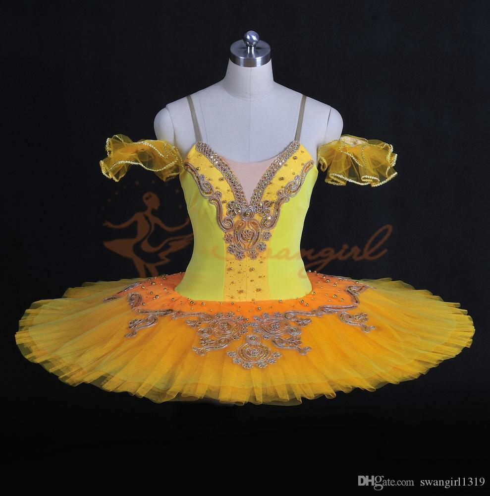619306332 Classical Ballet Tutu Professional Dance Costumes For Concert Adult Yellow  Tutus Skirt 12 Layers BT8965 From Swangirl1319, $171.86 | DHgate.Com