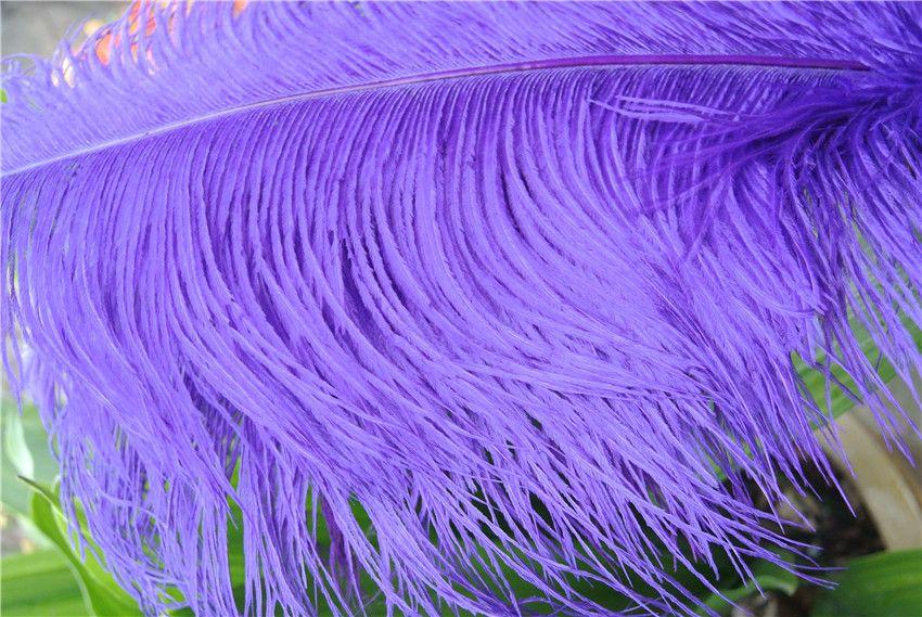 Al por mayor-Preferente 100 unids / lote Plumas Pluma de Avestruz Púrpura 18-20 pulgadas 45-50 cm Mesa de Boda Centro de mesa Decoración plumas Centros de mesa