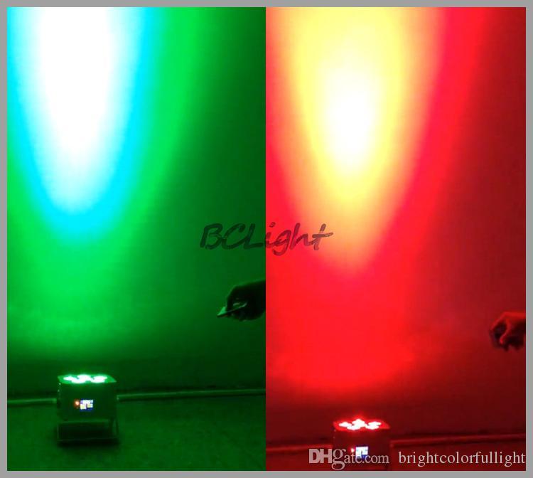 10 قطع +1 ذبابة القضية / الكثير اللاسلكية DMX الاسمية ضوء RGBWA + الأشعة فوق البنفسجية 6x18W غسل تسير الضوء على التحكم led بطارية تعمل الإضاءة