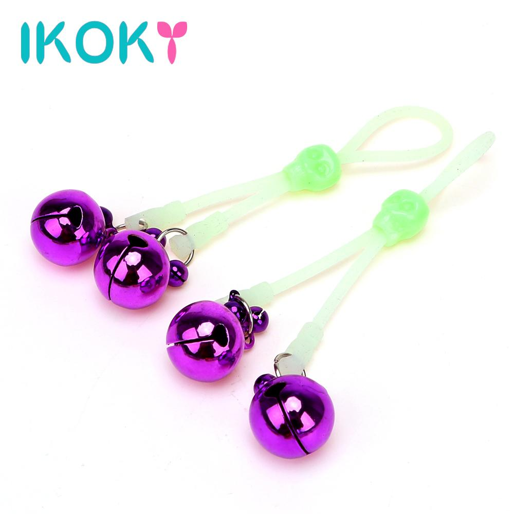 ikoky nipple clamps with bells sex toys for couple adult games