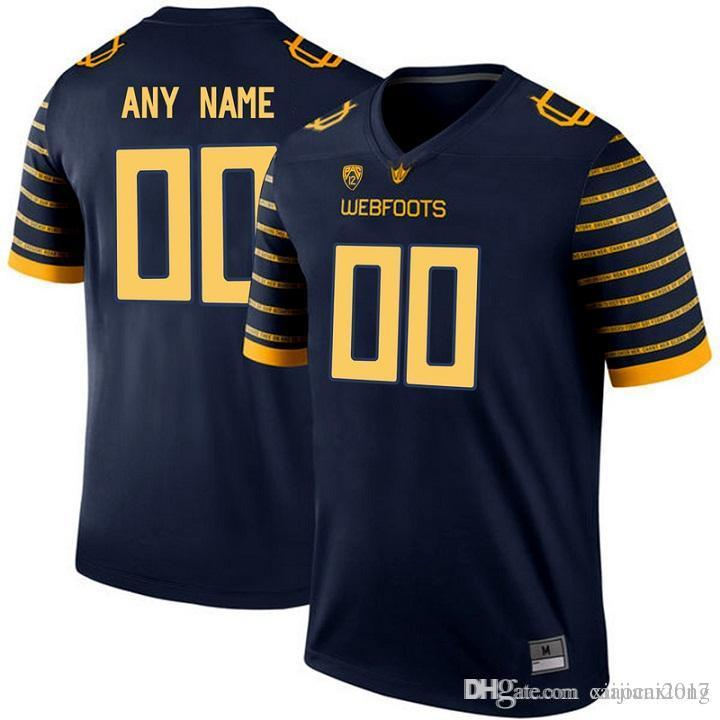 2016 Men Oregon Duck Customized College Football Electric Lightning Limited Jerseys  Yellow
