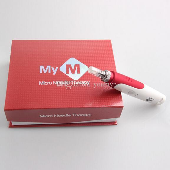 電気皮膚ペンスタンプ自動マイクロニードルローラーアンチエイジングスキン療法ワンドMym Derma Pen