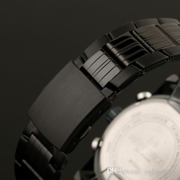 NAVIFORCE Mode Hommes Montres Full Steel Hommes Quartz Heure Horloge Analogique Numérique LED Montre Sport Militaire Montres Montres Drop Shipping
