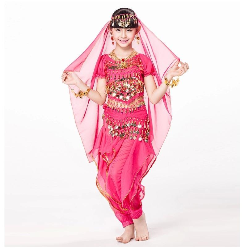 Compre Día De Los Niños Danza Del Vientre Traje De Niño Indio ...