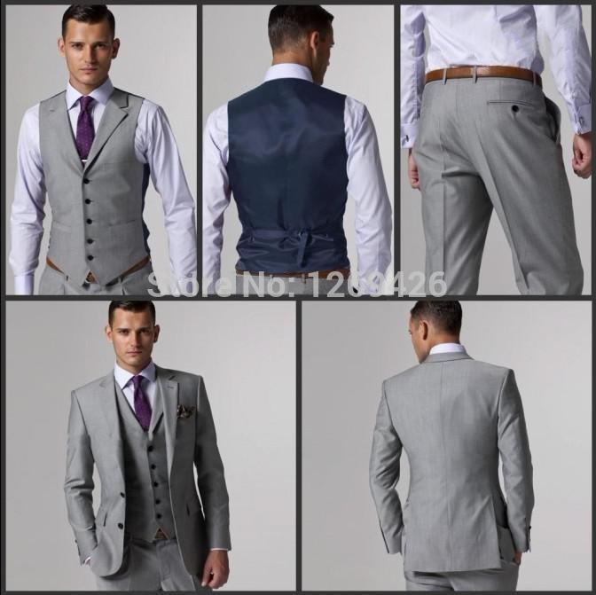 Shop Men's Suits & Blazers Online, Italian Luxury Mens Grey Suits ...