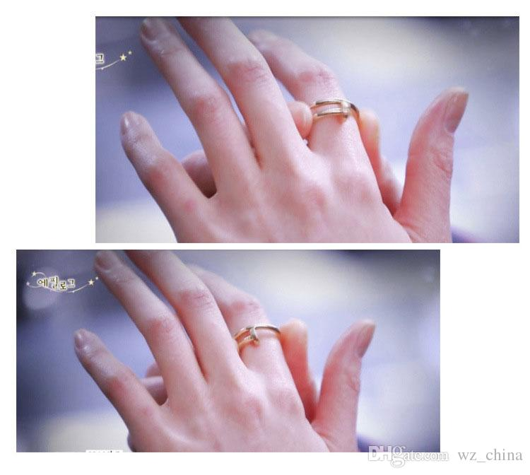 30% 925 Sterling Silver Spike Wedding Rings Opening Adjustable Nail Ring For Girls Women Charms Rings Gold/Silver/Rose Gold/Black color