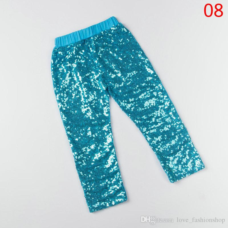 2019 Kids Designer Clothes Girls Sequins Shiny baby leggings Silver Gold Red tights pants childrens boutique clothing clothes