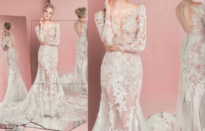 2016 Zuhair Murad Wedding Dresses Mermaid Lace Long Sleeve Sheer Bridal Gowns Cut Dress Body Type From Weddingshow