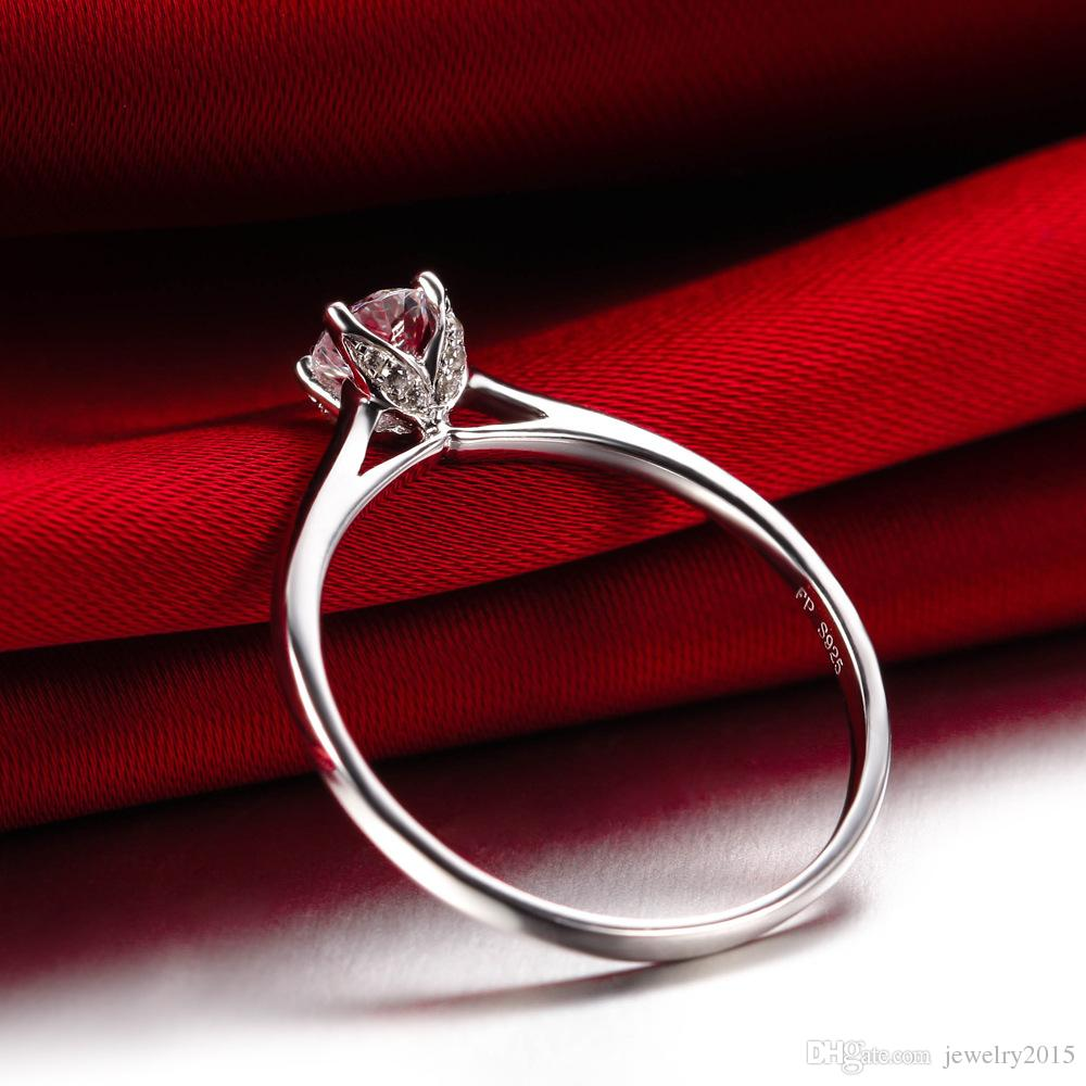 925 Argent anneaux Victoria Wieck Tour Eiffel Style topaze simulé diamant Argent sterling 925 Bague de fiançailles de fiançailles Livraison gratuite