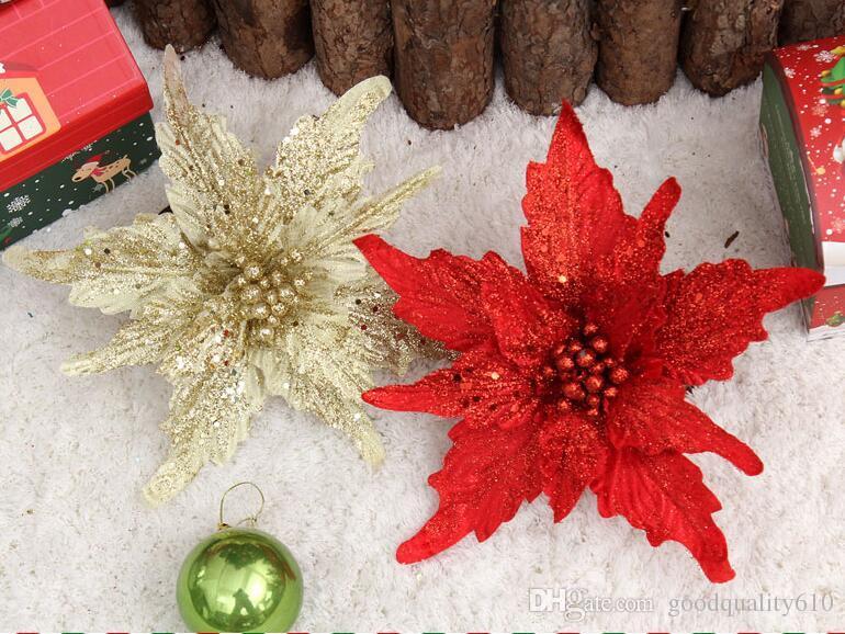 24cm Celosia cristata 꽃 스팀 스팽글 펜던트 서스펜션 장식 크리스마스 파티 휴일 트리 Venun Hanging Decoration