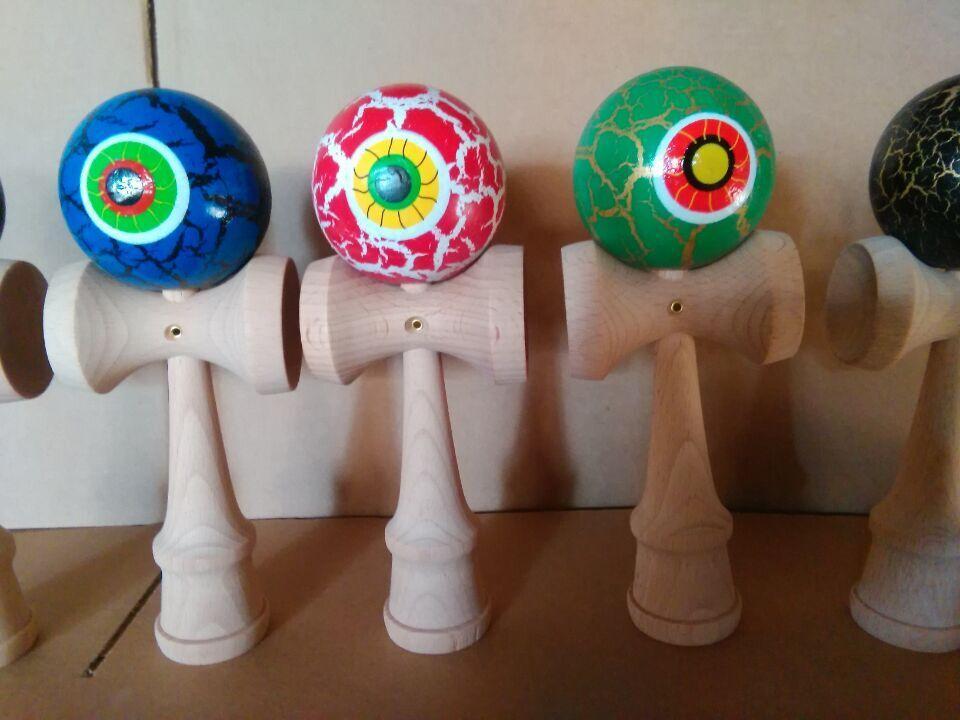 100 шт. В наличии 25 см глаза Kendama Ball искусный жонглирование игра в мяч японские традиционные игрушки шарики развивающие игрушки бесплатная доставка