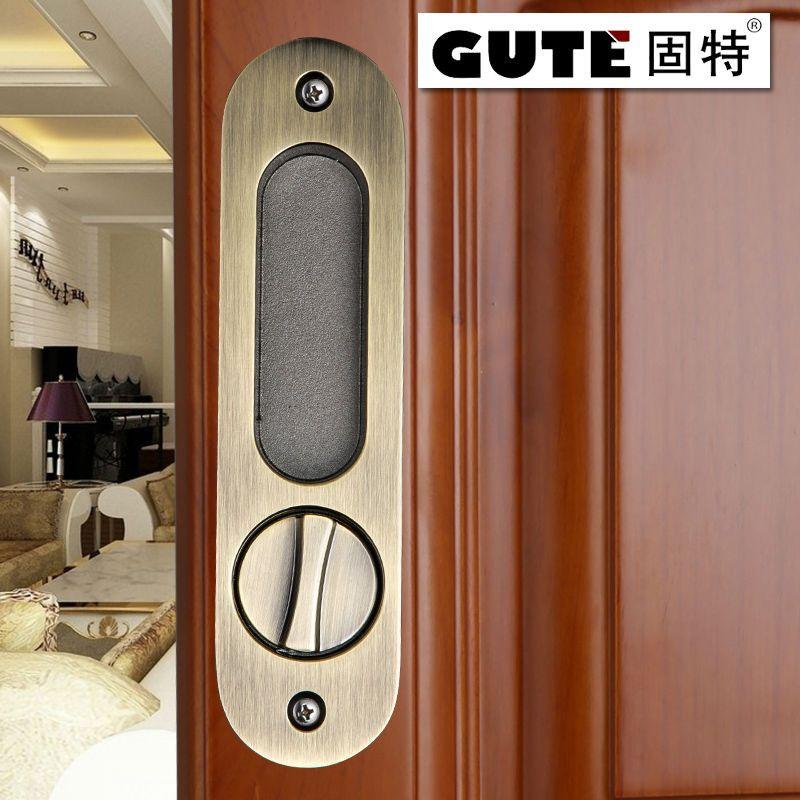 Compre gute gen ricos 160mm ba o cerraduras de desplazamiento de madera puerta corredera de - Cerraduras para puertas de madera precios ...