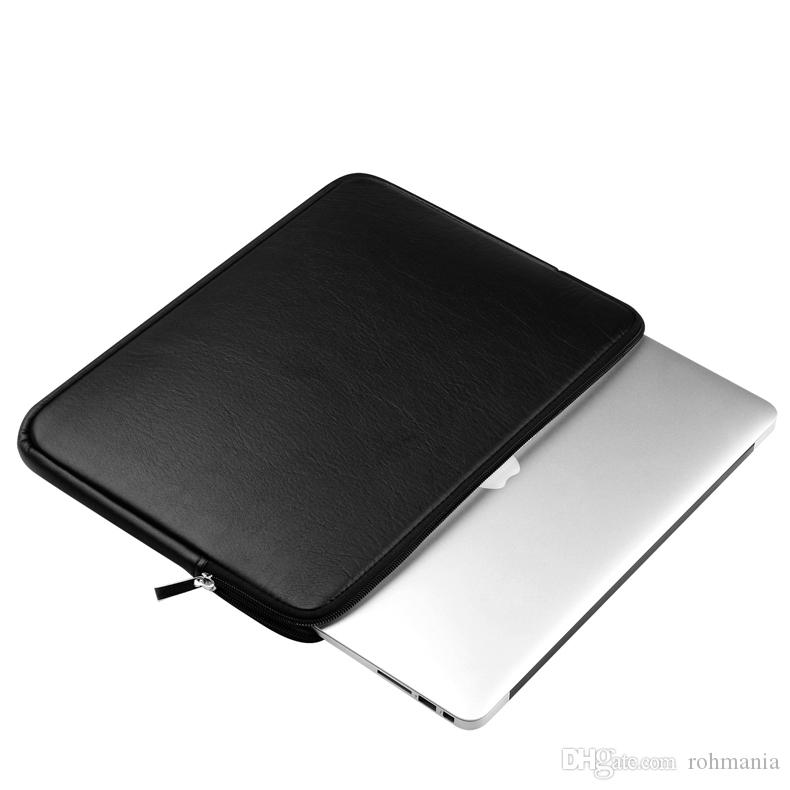 Laptop Sleeve 11-15 Inch Protective Cover Case Bag for MacBook Air Pro Retina Dell 11.6 13.3 15.6 Waterproof PU Leather