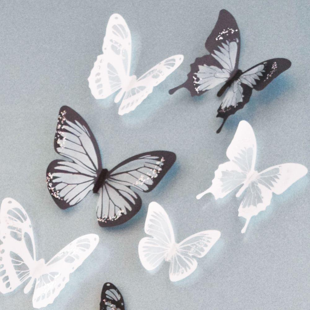 3d Butterfly Wall Decor Creative 3d Butterfly Stickers Pvc Removable Wall Decor Art Diy