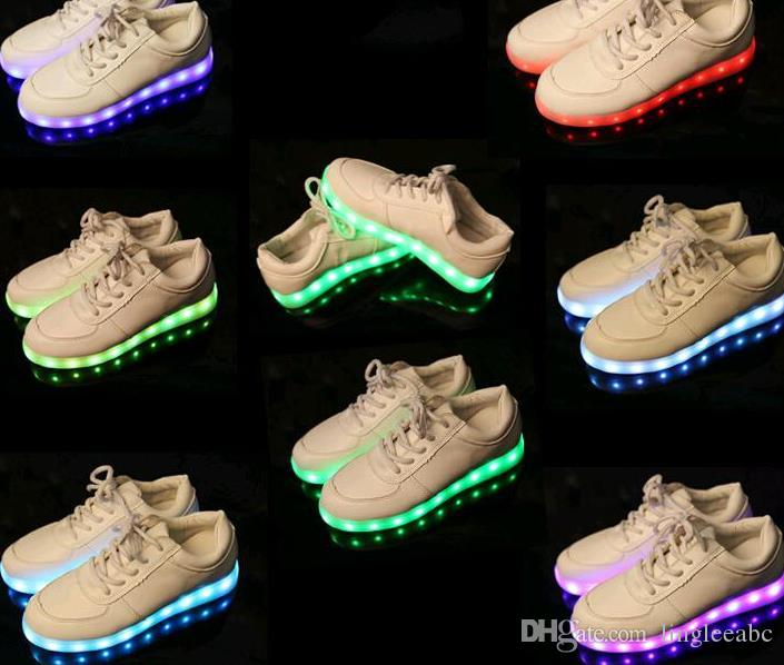 really for sale 7 Colors LED luminous shoes unisex sneakers men & women sneakers USB charging light shoes colorful glowing leisure flat shoes casual colors buy cheap official TJ1iWlun