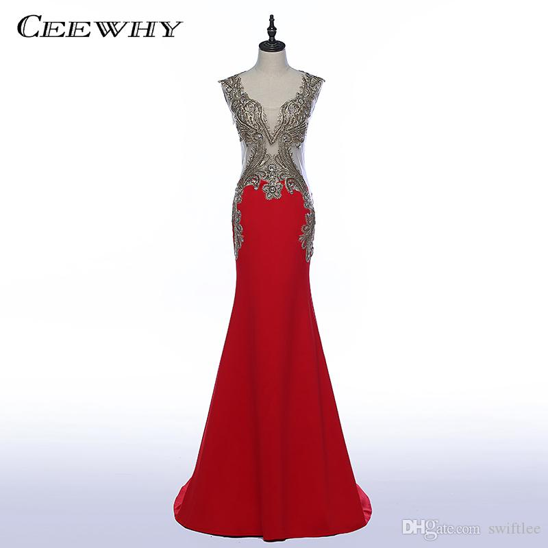 Vestidos largos formales rojos