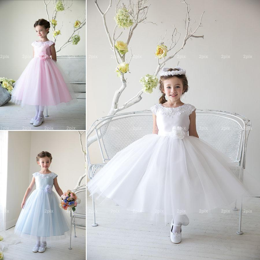 Flower girl princess dress kids party pageant wedding for Wedding dresses for child