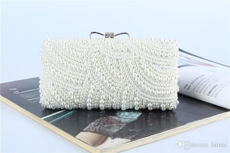 Factory/Retaill/Wholesale brand new handmade perfect beaded evening bag with satin/PU for wedding/banquet/party/porm/brides maids