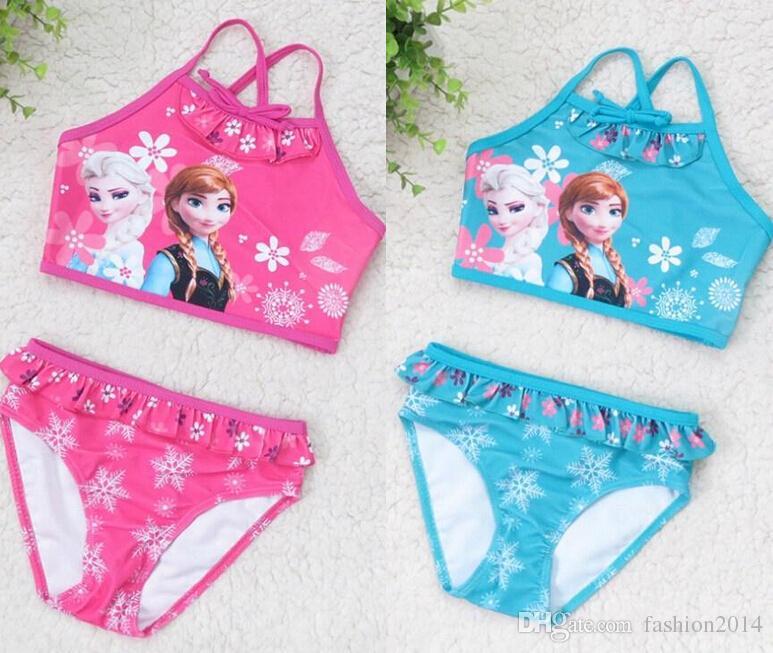 Cheap Bedroom Sets Kids Elsa From Frozen For Girls Toddler: Online Cheap Frozen Elsa Anna Swimsuit Baby Girls Kids