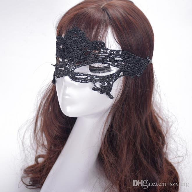Sexy Black Fancy Dress Lace Venetian Face Mask Party Masquerade Masks Masquerade Ball Prom Halloween Costume