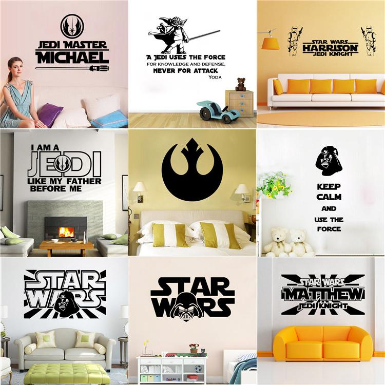 Star Wars 3d Wall Stickers Decorative Wall Decal Wallpaper Party ...