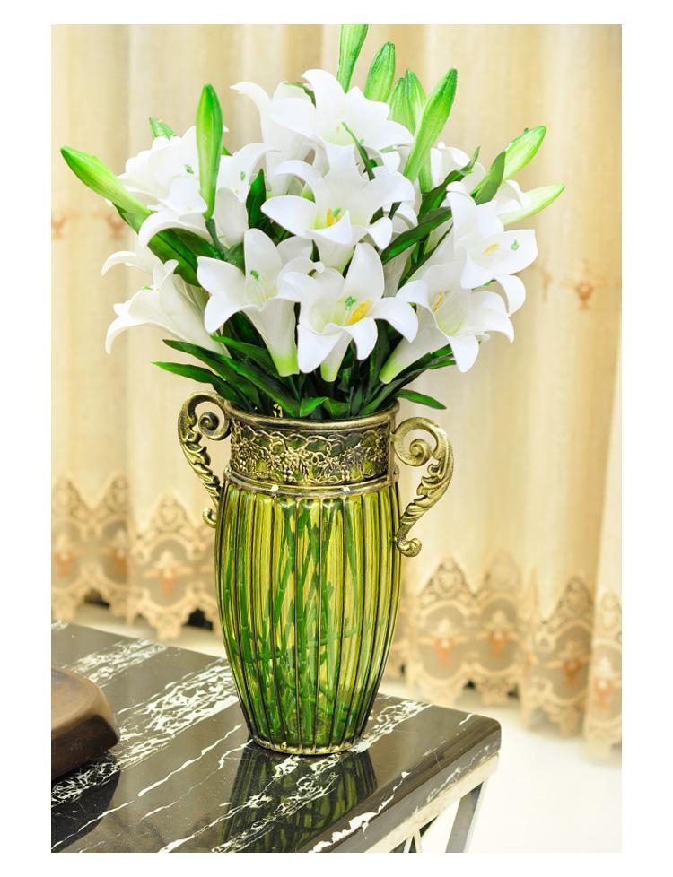 Large Living Room Lucky Bamboo Lily Flower Arrangement Wrought Iron Glass  Vase, Pottery Flower Vases Pottery Urns And Vases From Winss, $188.95|  Dhgate.Com Part 28