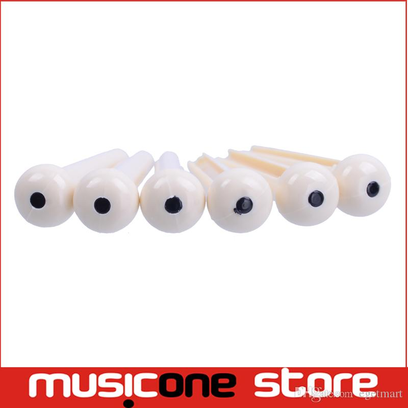 Ivory Plastic Guitar Bridge Pins with With Black Dot Popular Acoustic Guitar Accessories New Arrivals In stock wholesale MU0263