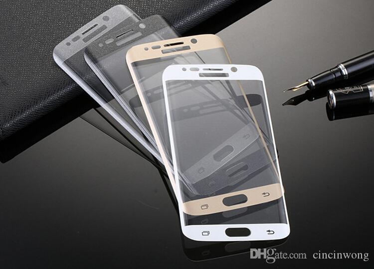 For Samsung Galaxy S6 Edge plus + 9H 3d Curved Side Full Cover Tempered Glass Screen Protector with Retail package