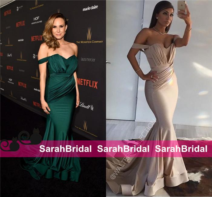 70c0b02670 Keltie Knight Walter Collection Celebrity Evening Dresses Oscars Golden  Globes Mermaid Style For 2016 Women Prom Wear Sale Emerald Hot Gowns Oscar  Dresses ...