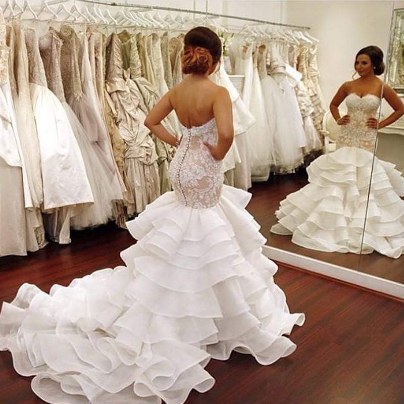 vestido de novia corte sirena pinina – vestidos de fiesta
